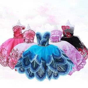 30 см Девочка Кукла одеваются аксессуары одежда свадьба фиолетовый павлин комплект с платьем принцессы автомобиль BJD кукла девушка игрушка ...