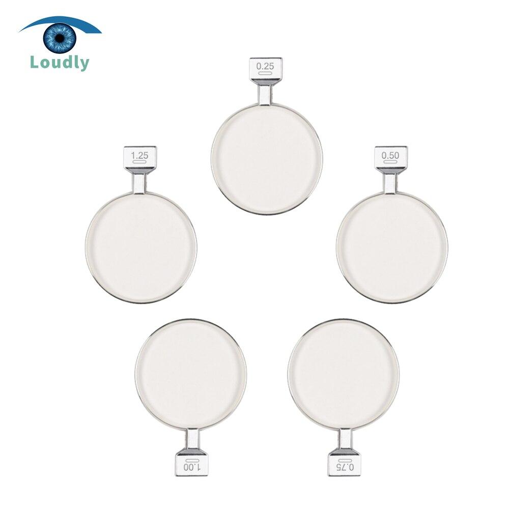 Alto marca de alta qualidade lente oftálmica esfera julgamento lente com jantes de metal