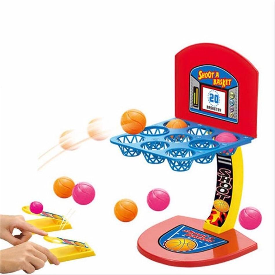 Mini Basketball Shooting Game For Children's Desktop Shooting Marbles  Table Games Parent-Child Interaction Fingertip Movement