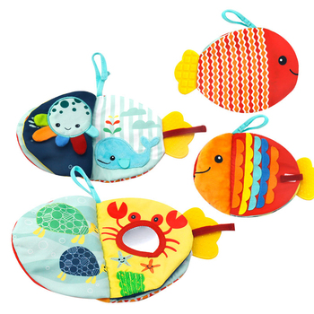 Creative Small Fish Cloth Book Cartoon Sea Animals Doll Baby Early Education Soothing Toy Washable Enlightenment Cloth Book