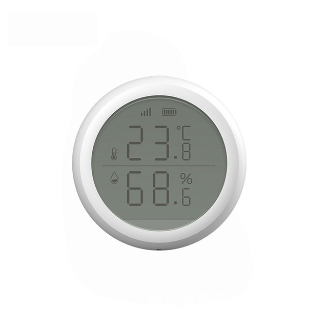 Battery Powered Temperature Humidity Sensor Multifunction With LCD Display Building Automation Universal Wireless High Accuracy