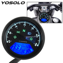 Night vision Dial Odometer  Motorcycle Panel Speedometer Universal   LED Multi function Digital Indicator Tachometer Fuel Meter