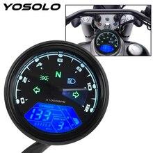 Visão noturna dial odômetro motocicleta painel velocímetro universal led multi função indicador digital tacômetro medidor de combustível