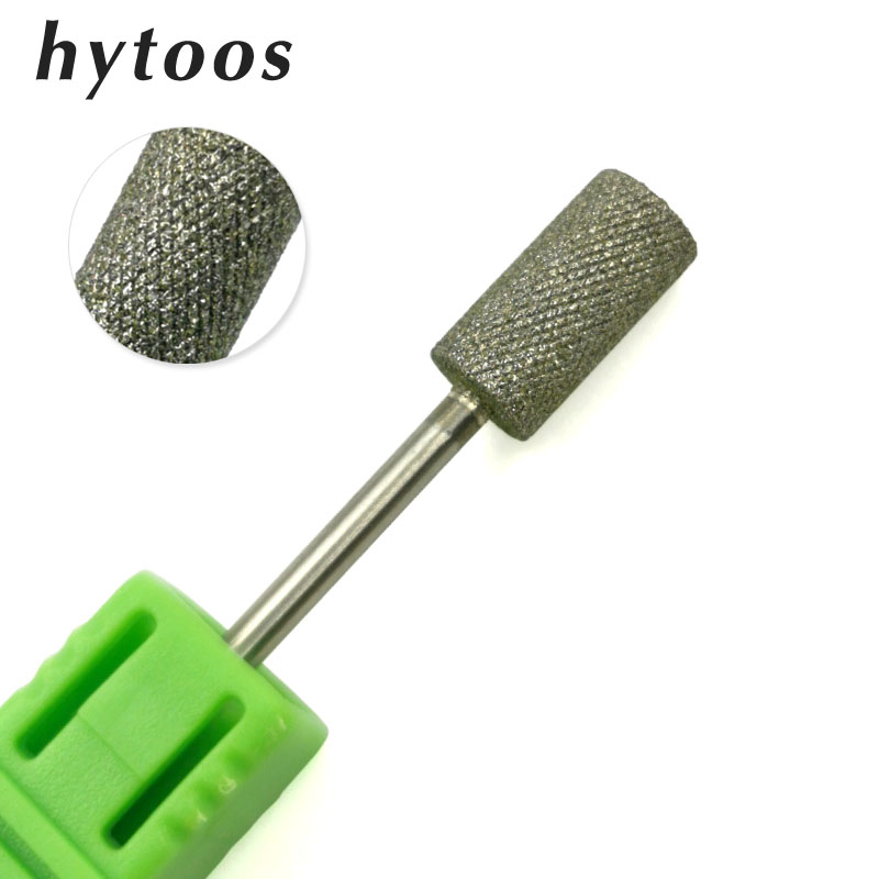 """HYTOOS New Barrel Diamond Nail Drill Bits With Tooth 3/32"""" Rotary Diamond Burr Manicure Bits For Nail Drill Pedicure Tools"""