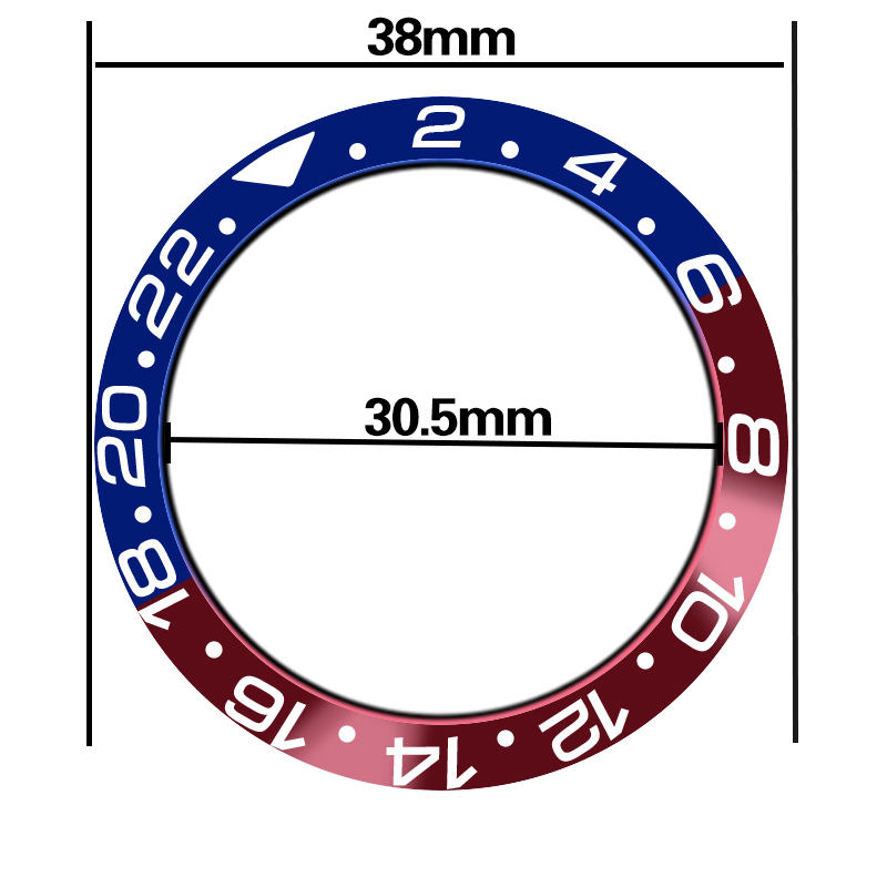 Watch Spare Parts 38mm Blue Red High Quality Titanium Insert Frame Bezel For 40 Mm Sea Automatic Mens