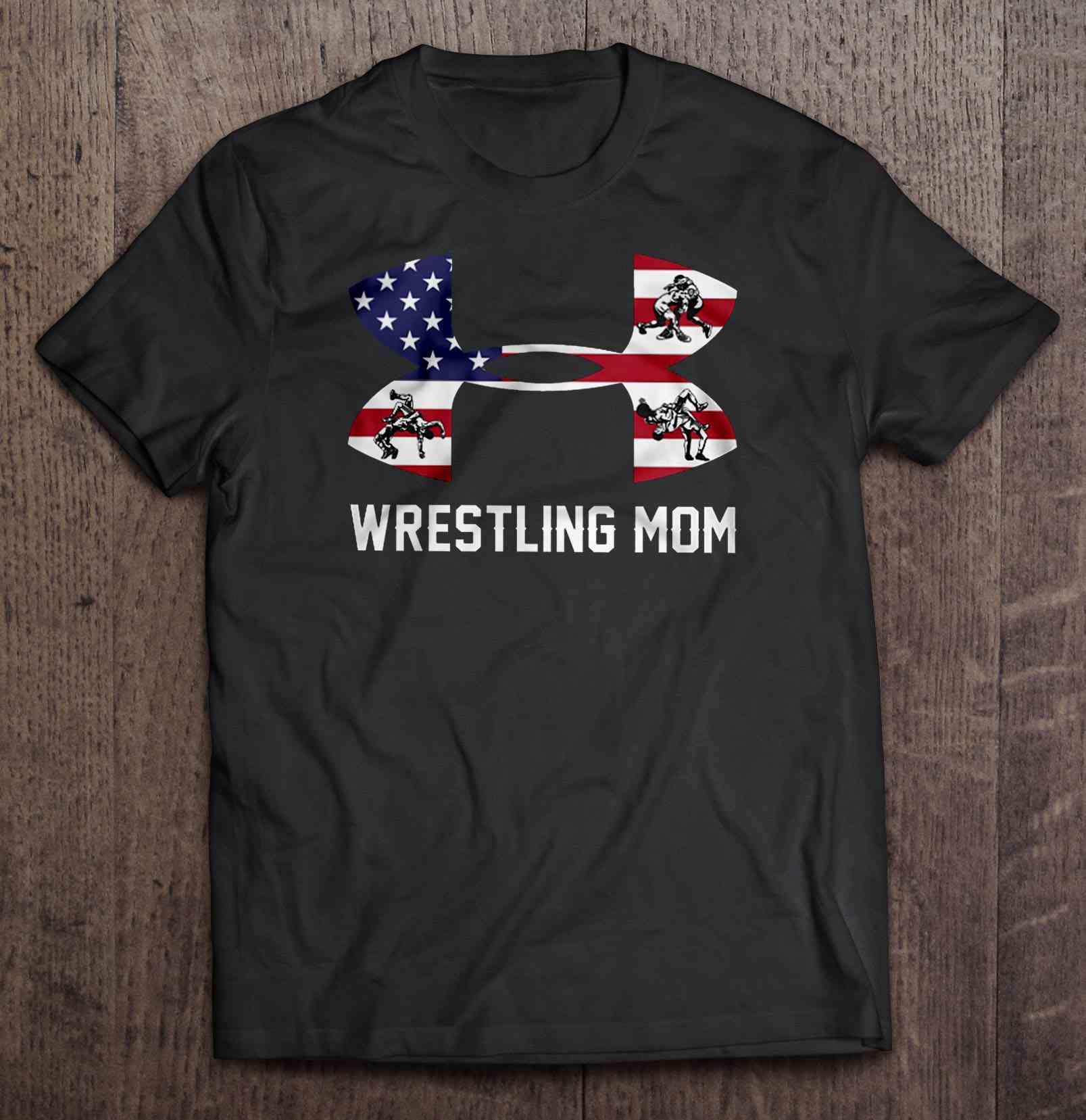 Wrestling Mom American Flag Version Tshirts