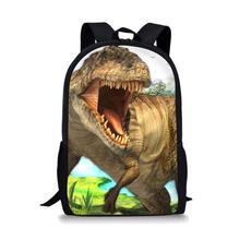 Thikin Dinosaur Pterosaur Students School Bag for Boys Teenagers Backpack Travel Package Shopping Shoulder Women Mochila