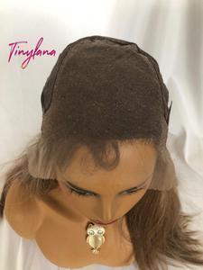 Image 4 - Küçük LANA uzun ipeksi düz kahverengi sarışın dantel ön peruk bebek saç ile ısıya dayanıklı 100% Futura sentetik peruk kadınlar için