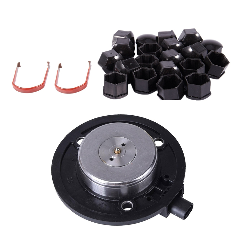 20Pcs 17mm Car Plastic Caps Bolts Covers Nuts Alloy Wheel with Car Engine Camshaft Adjuster Magnet