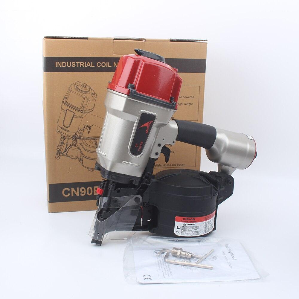 Tools : Quality YOUSAILING CN90B Pneumatic Industrial Coil Nailer Efficient Light Roll Nail gun For Pallet Making Nail Depth Adjustable