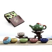 цена на 7 Colors Chinese style Kung Fu tea tea set ceramic teapot teacup set porcelain tureen tea bowl Free shipping