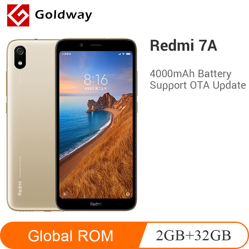 Global ROM Xiaomi Redmi 7A 7 A 2GB RAM 32GB ROM Mobile Phone Smartphon Snapdargon 439 Octa Core 13MP 5.45