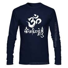 Yoga T-shirt Om Mani Padme Hum Burnout Tee Cotton Graphic Retro Tops Tee Shirt