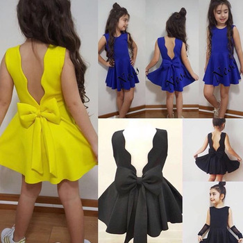 цена на 2020 New Wedding Blackless Baby Girl Clothes Kids Dresses For Girls Toddler Girl Dresses Summer Dress Princess Dress Girls Dress