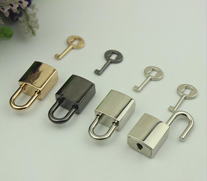 (20 Pcs/lot) Factory Direct Luggage Handbag Hardware Accessories Glossy Key Padlock Twist Lock