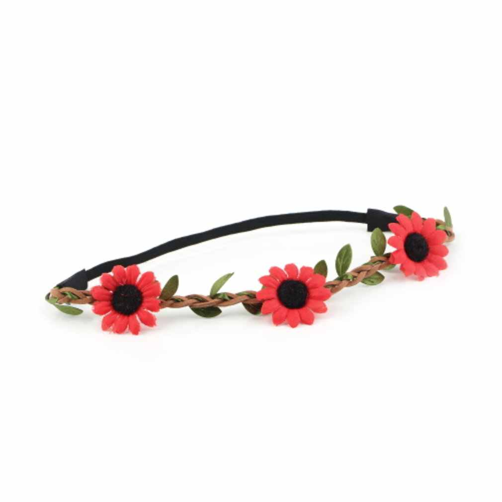 Boho Women Girl Party Wedding Sunflower Garland Beach Wreath Elastic Headband Exquisitely Designed Durable