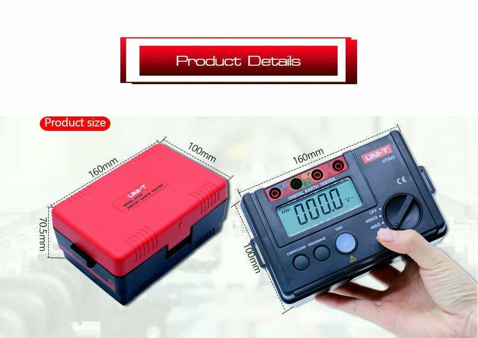 baixa tensão display 0-200 v 0-2000 ohm terra resistência tensão mete