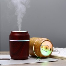 New Wood Grain Humidifier USB Air Purifier Aroma Diffuser Office Desktop Home Car 3-in-1 Essential Oil