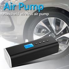 휴대용 플라스틱 자동차 공기 압축기 다기능 LCD 미니 휴대용 자동차 자전거 타이어 공 풍선 펌프 LED 빛