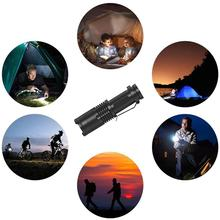 Mini Q5 adjustable focus glare LED flashlight AA/14500