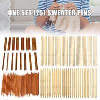 75 шт. бамбуковые двойные заостренные спицы прочные для носков свитер шарф QP2