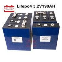 32PCS 3.2V 190Ah lifepo4 battery Balanced continuous product number solar 48V 96V NEW cells M6 Marine RV Golf EU US TAX FREE