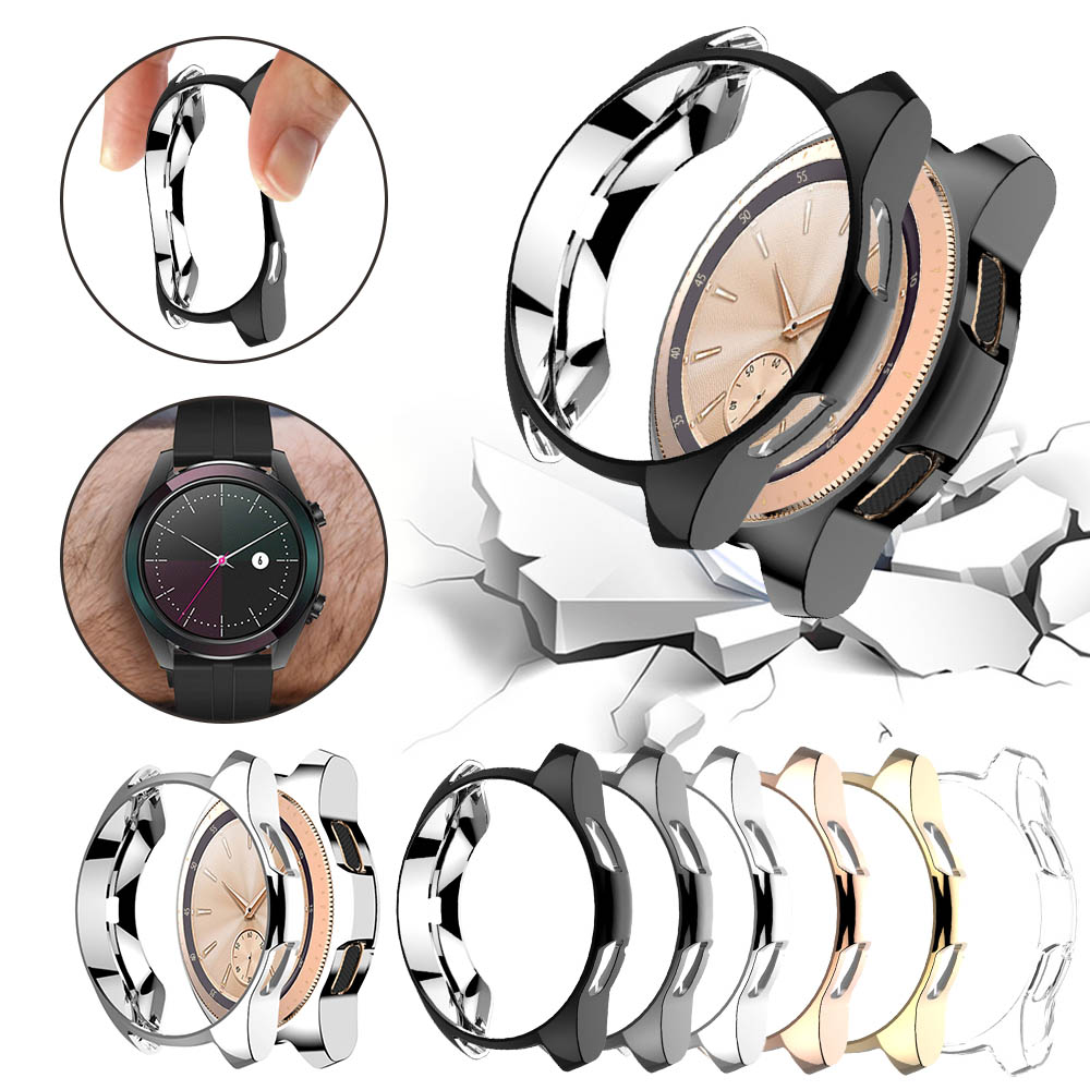 Cover Case for Samsung Gear S3 frontier/Galaxy Watch 46mm 42mm Bumper Soft Plated TPU Smart Watch Accessories Protective Shell