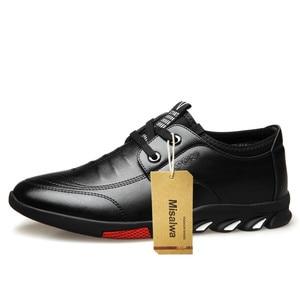 Image 2 - Misalwa 5 CM מעלית גברים של עור נעליים יומיומיות Mens מקרית סניקרס מעלית גובה הגדלת נעלי גברים בריטי אופנה