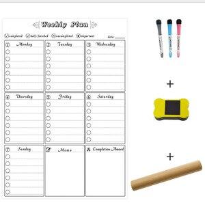 Image 3 - A3 tablica miesięczny terminarz magnetyczna tablica ogłoszeń do szkoły biuletyn tablice Memo lodówka magnes kalendarz terminarz