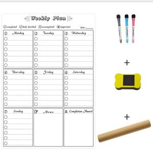 Image 3 - A3 ホワイトボード毎月プランナー磁気メッセージボード学校掲示板メモボード冷蔵庫マグネットカレンダーデイリープランナー