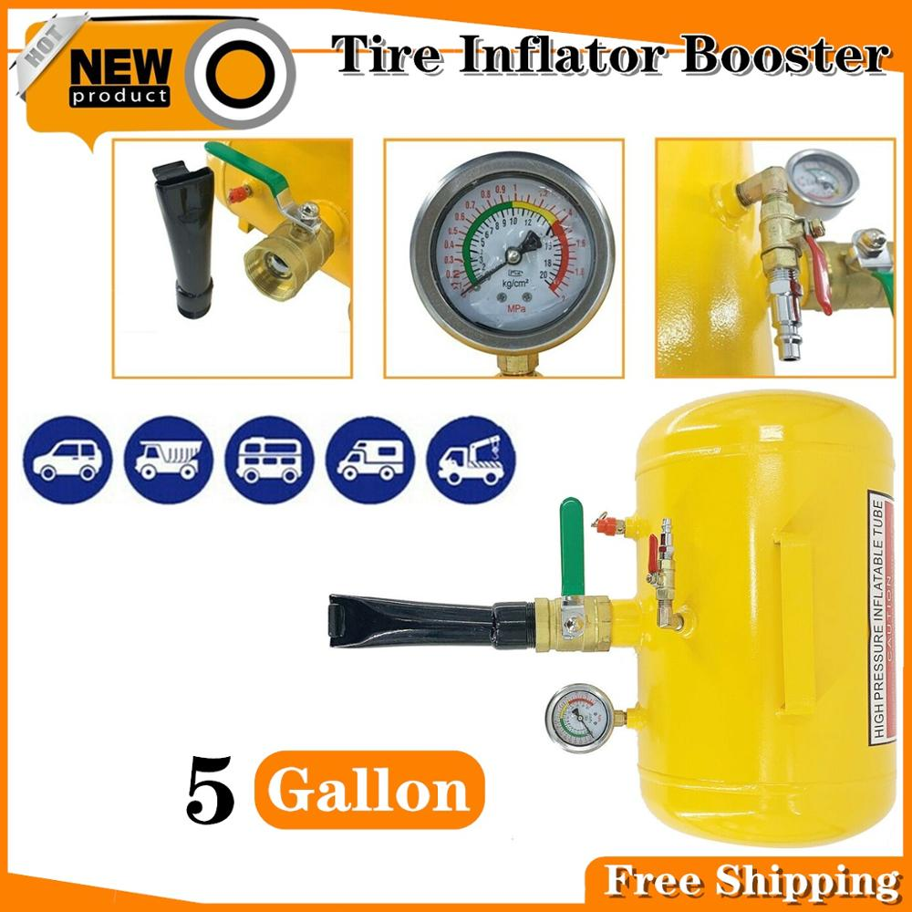 Portable 19L/5 Gallon Handheld Tire Bead Seater Air Tank Seating Booster Tool Air Blaster Inflating Pump Tire Sealer 100-120 PSI