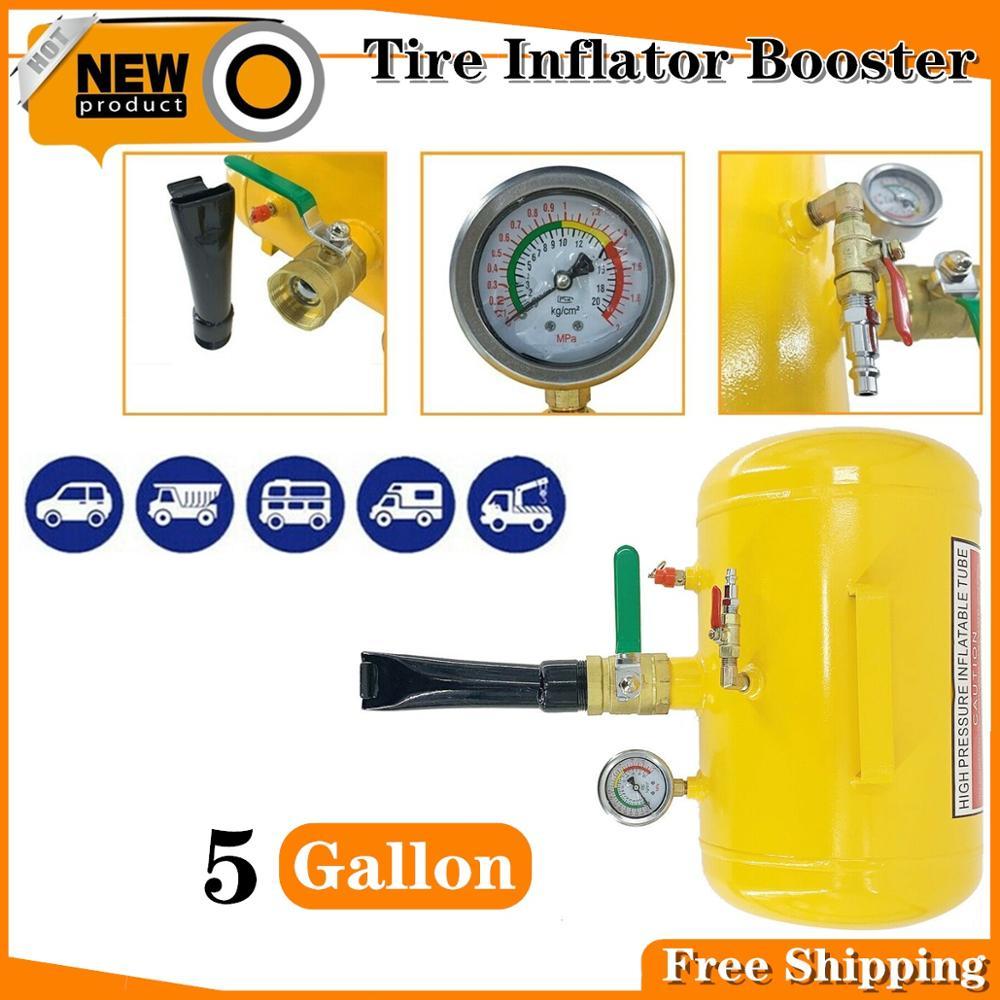 Portable 19L/5 Gallon Handheld Tire Bead Seater Air Tank Seating Booster Tool Air Blaster Inflating Pump Tire Sealer 100-120 PSI