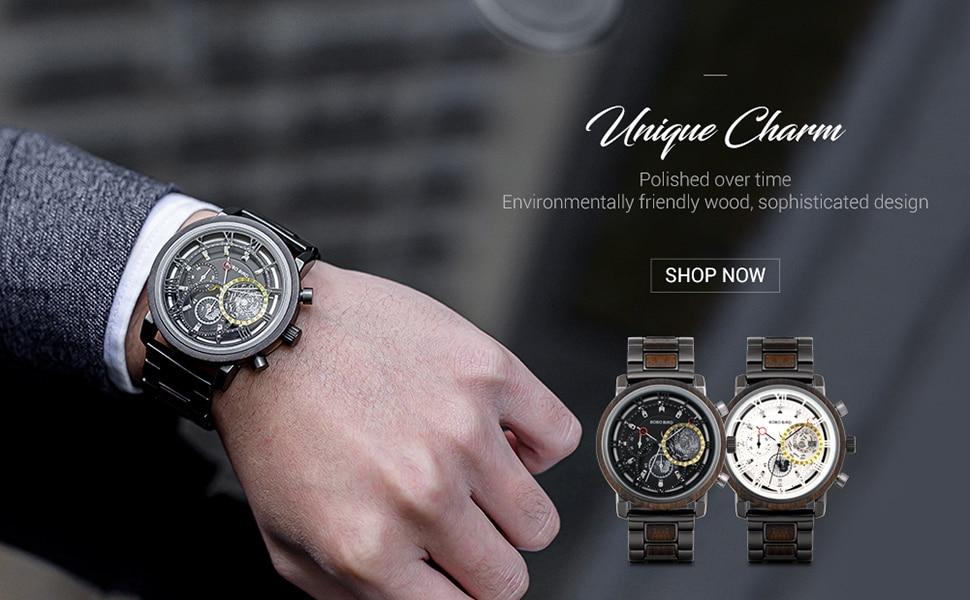 relógio de aço inoxidável relógios de luxo