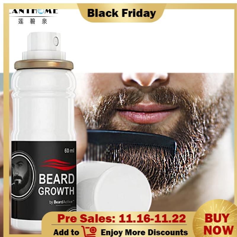 homem facial crescimento do cabelo oleo grosso barba crescimento spray barba crescer estimulador natural acelerar o