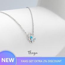 Thaya Ice Lush Gorgeous Jewelry Sets 100% 925 Sterling Silver Zircon Fashion Ring Necklace for Women  Gift