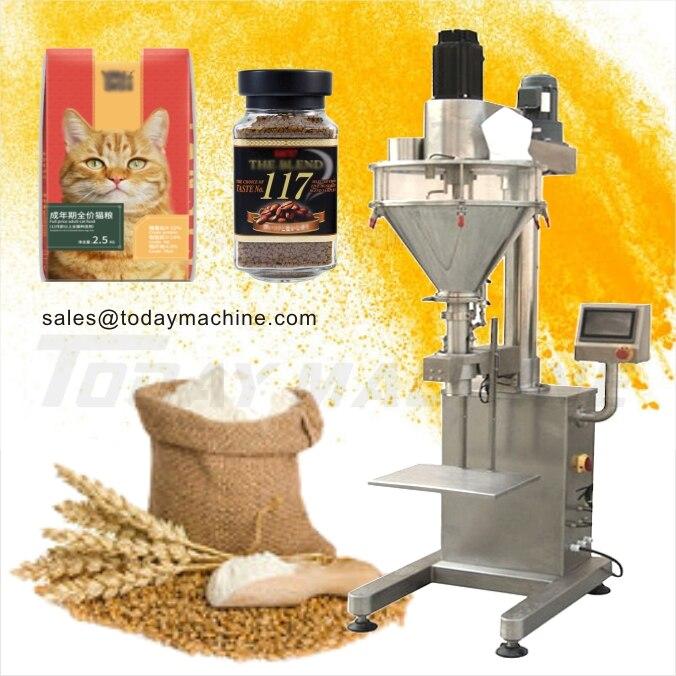 Купить с кэшбэком digital Automatic Powder Stand Pouch Packaging Machine, auger filling machine, screw racking machine