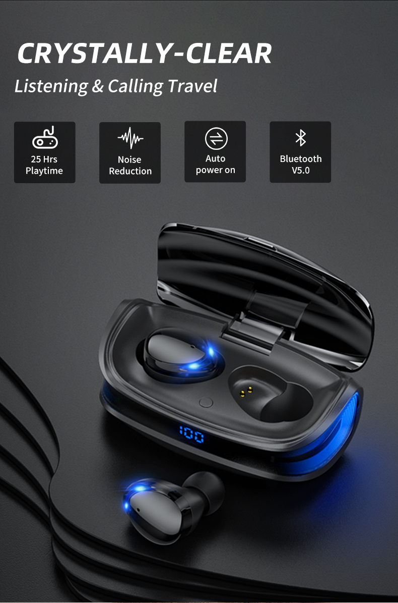 HJCE T8 TWS Wireless Bluetooth Earphones 10