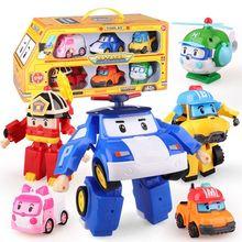 6 sztuk zestaw Korea zabawki Robocar Poli Robot transformacyjny Poli Amber Roy Model samochodu Anime zabawki figurki akcji dla dzieci najlepszy prezent tanie tanio CN (pochodzenie) Unisex 12 cm Certificat Montaż montażu Second edition 3 lat Wyroby gotowe Toy Policy Korea południowa