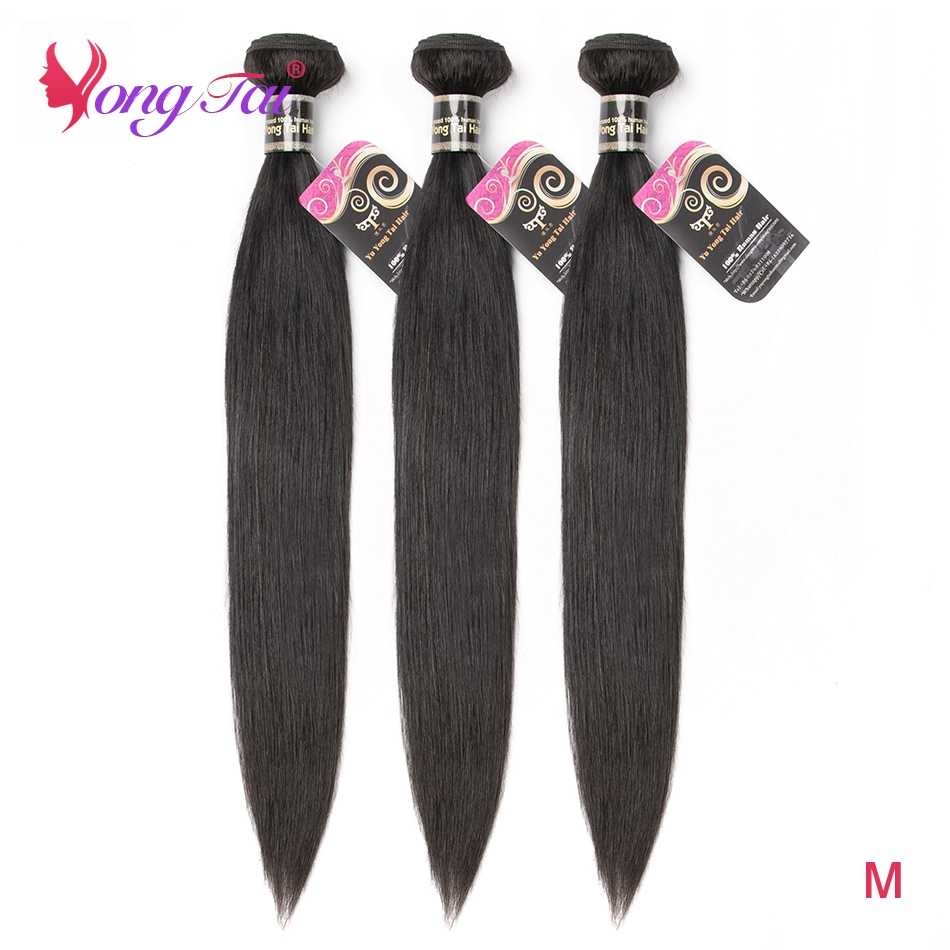 YuYongTai Straight Hair Bundles 3 Peruvian Hair Bundles Non-Remy Hair Extensions Human Hair 10''-26''  No Tangle Free Shipping