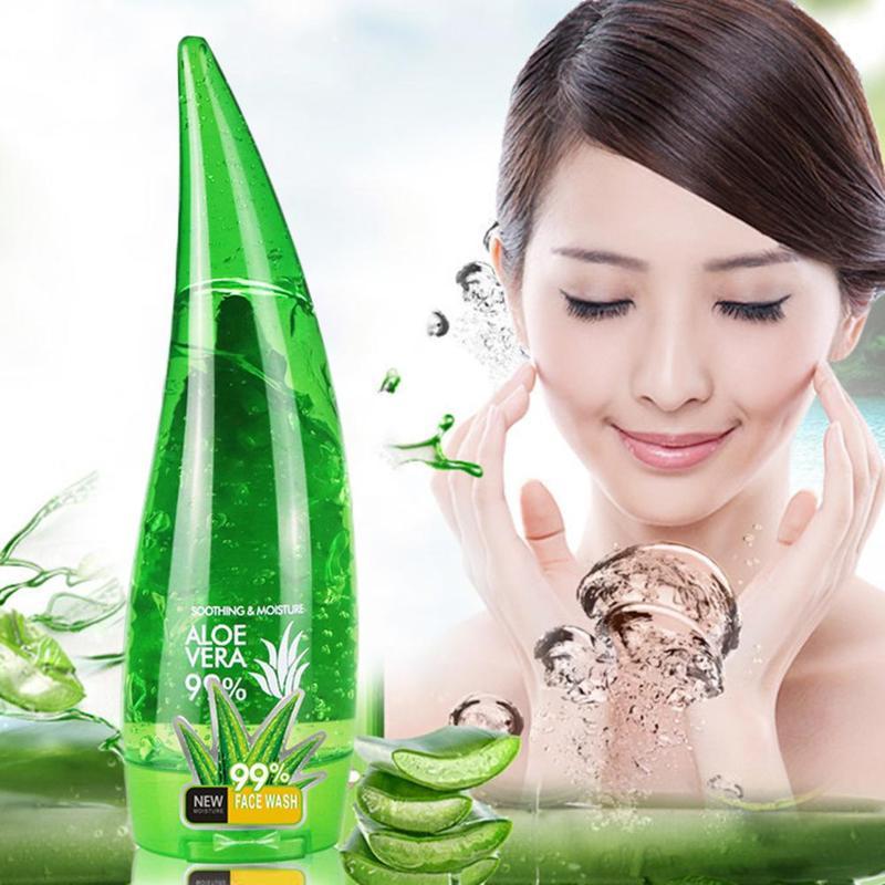 1PC Aloe Soothing Gel Aloe Vera Gel Skin Care Remove Acne Moisturizing Day Cream Sunscreen Aloe Gel