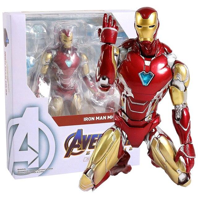 Marvel Avengers Endgame Iron Man Mark MK 85 SHF PVC Action Figure Collectible Model Toy
