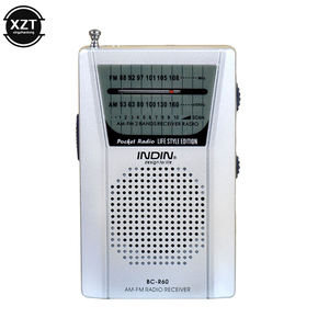 BC-R60 карманная телескопическая мини-антенна AM/FM, 2-полосный радиоприемник с динамиком 3,5 мм, разъем для наушников, портативное радио