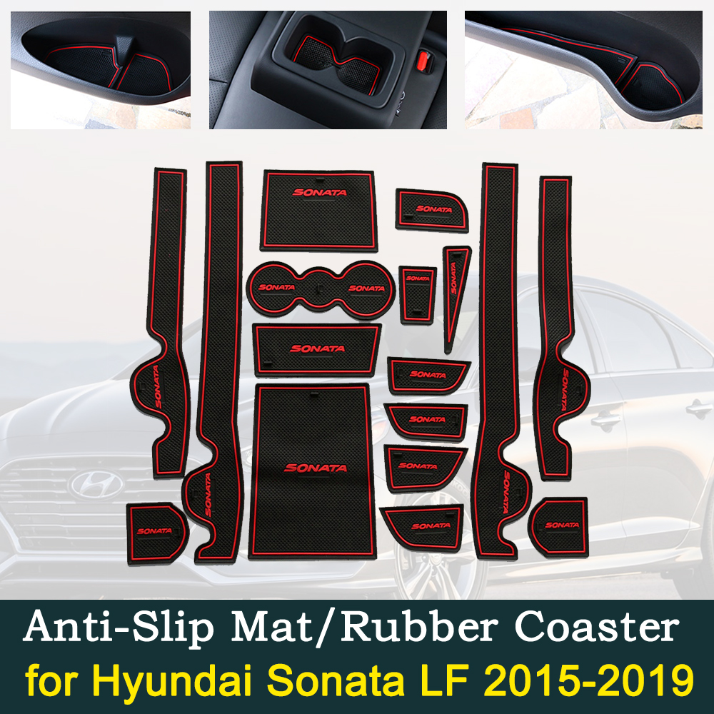 Anti-slip Door Rubber Cup Cushion For Hyundai Sonata LF 2015~2019 2016 2017 2018 Hot Sale Car Mats Interior Accessories Sticker