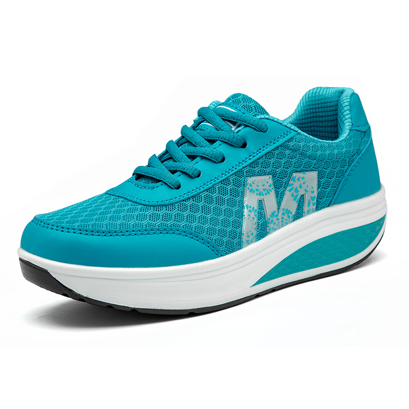 Women Running Shoes Swing Platform Sneakers Breathable Nonslip Women's Fitness Slimming Shoes Sports Zapatillas Mujer Deportiva