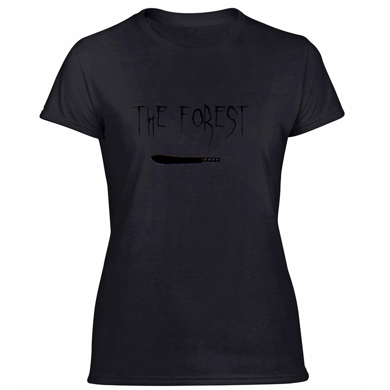Printed Funny The Forest ,Bowie Knife Tshirt For Womens Cool Leisure Women T Shirts White 2019 Plus Size S-5xl Tee Shirt image
