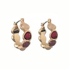 Красивые женские серьги золотого цвета с покрытием красочные обруч с камнем Серьги