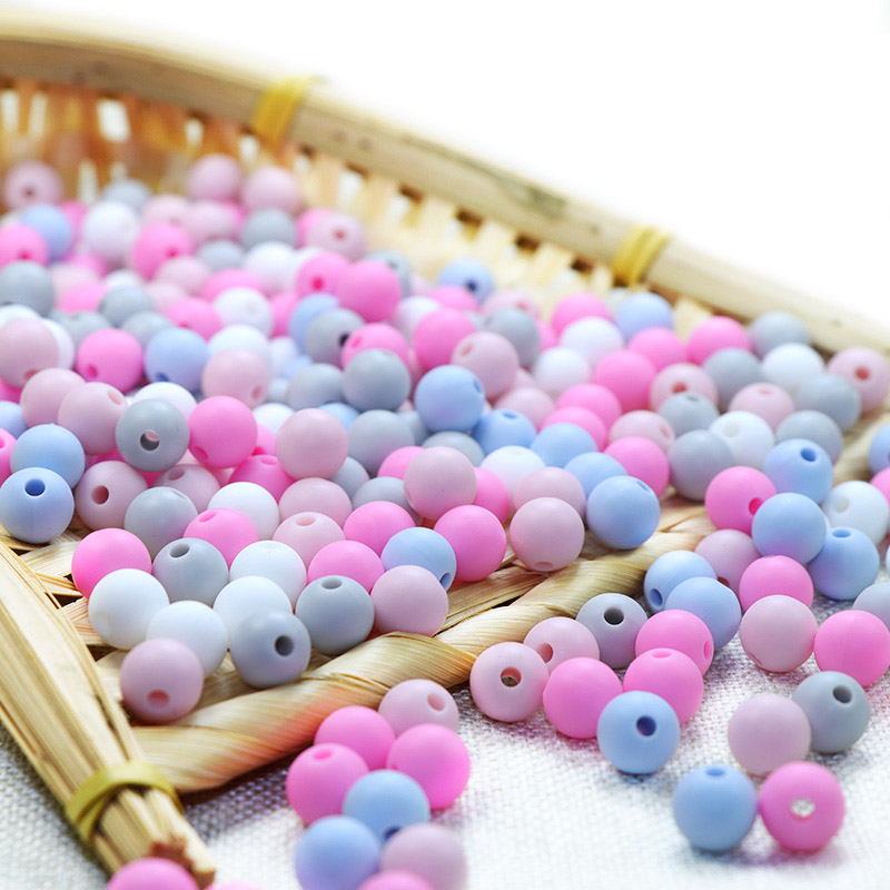 Joepada 100Pcs/lot 9mm Round Silicone Beads Food Grade Material For DIY Baby Teething Necklace BPA Free Oral Care Baby Teether
