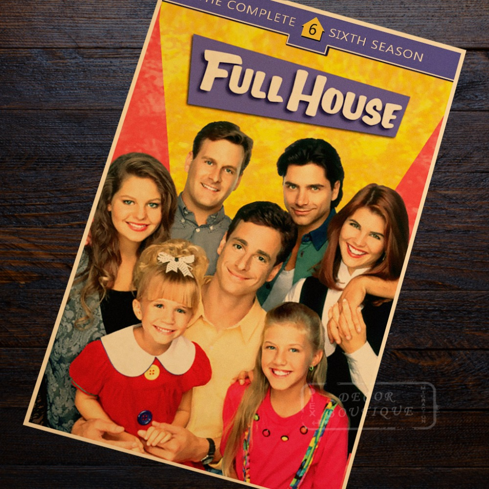 Full House Classic Memory 1990s TV Shows Vintage Retro Poster Decorative DIY Wall Canvas Stickers Home Posters Bar Art Decor Gif|Painting & Calligraphy| |  - title=