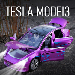 Nowy 1:32 Tesla MODEL 3 aluminiowy Model samochodu Diecasts i pojazdy zabawkowe samochody zabawki zabawki dla dzieci dla dzieci prezenty zabawki dla chłopca