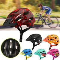 Crianças capacete de proteção mountain road bike mtb roda equilíbrio scooter capacete de segurança com luz da cauda bicicleta ciclismo capacete